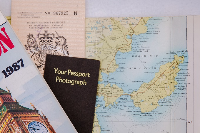 Passport and Isle of Lewis map