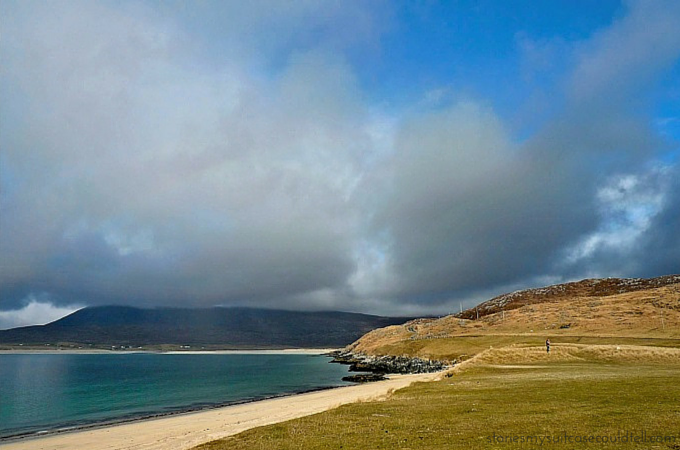 Clouds roll in over Horgabost beach, Isle of Harris
