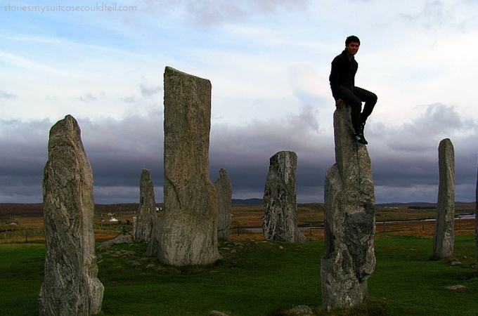 Sitting on top of the Callanish Stones, Isle of Lewis