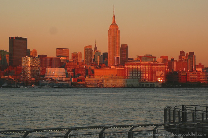 Empire State Building at golden hour