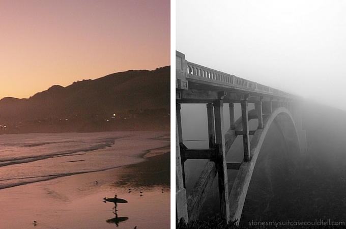Pismo Beach and Rocky Creek Bridge, California
