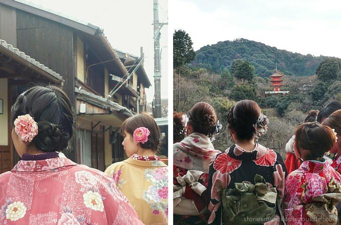 Kimonos at Kiyomizu-dera