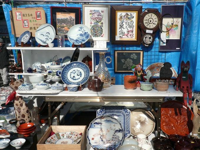 Ceramics for sale at Setagaya Boroichi market, Tokyo