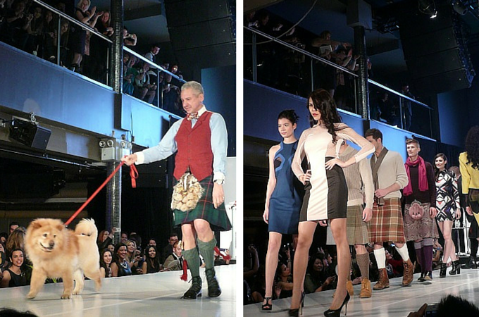 The Scottish Lion on the runway at From Scotland With Love