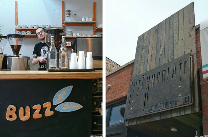Buzz Espresso and Mindy's Hot Chocolate, in Chicago's Wicker Park