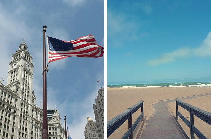 Chicago streets and shoreline