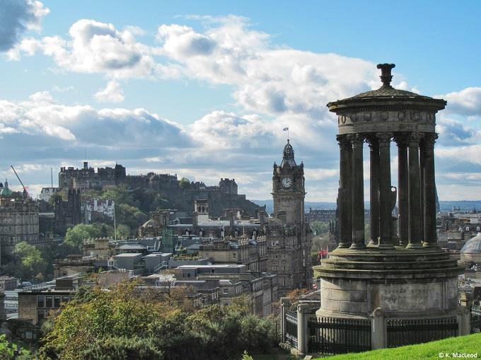 City view of Edinburgh from Calton Hill