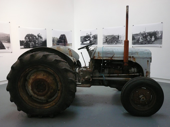 A tractor on show as part of the art display at An Lanntair