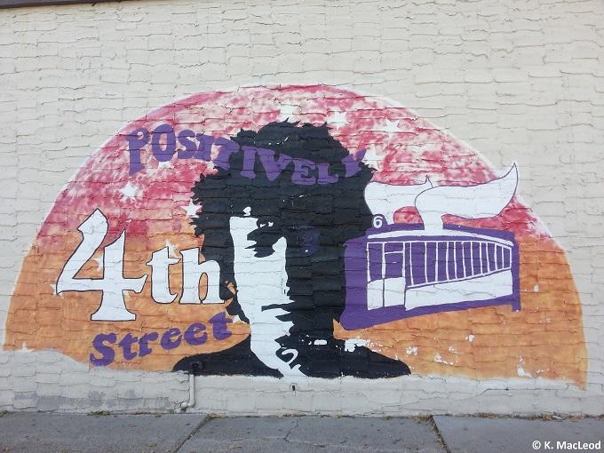 Dylan Mural in Dinkytown, Minneapolis