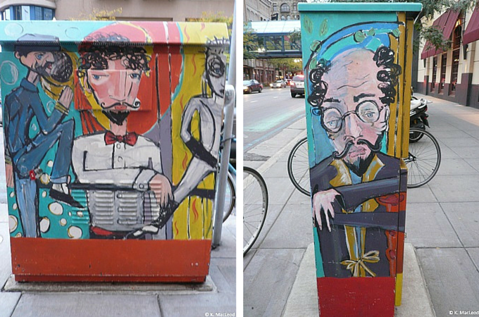 Fire hydrant art, downtown Minneapolis