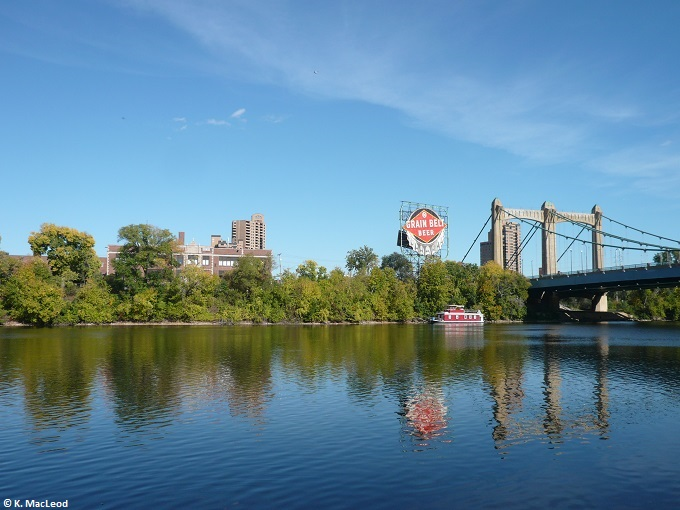 Reflections by First Bridge, Minneapolis