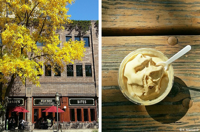 Salted caramel gelato at Wilde Roast Cafe, Minneapolis