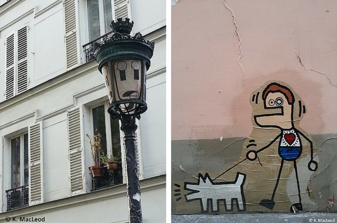 Street art in Montmartre, Paris
