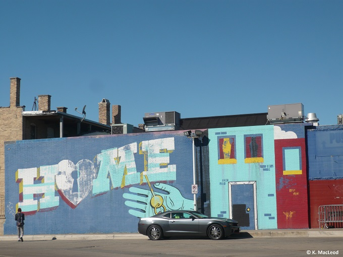 Street art mural, Logan Square, Chicago