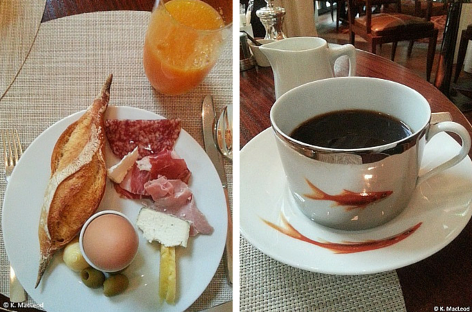 French breakfast at Le Royal Monceau, Paris