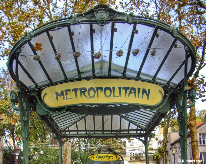 Art Deco Abbesses Metro Station, Paris