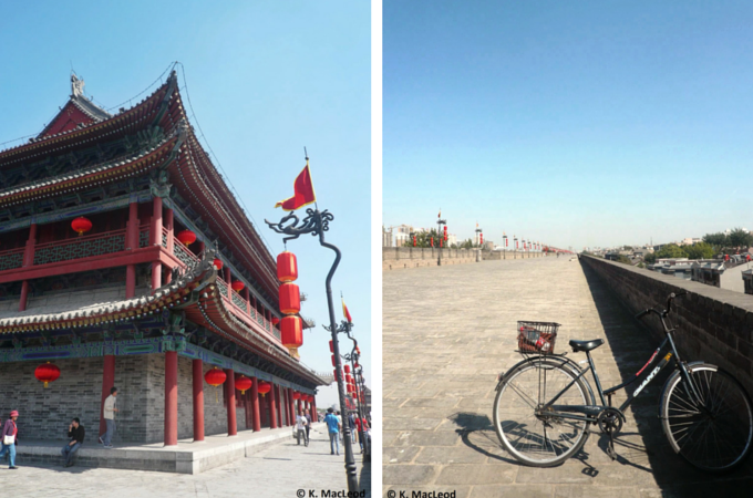 Cycling the city walls in Xi'an