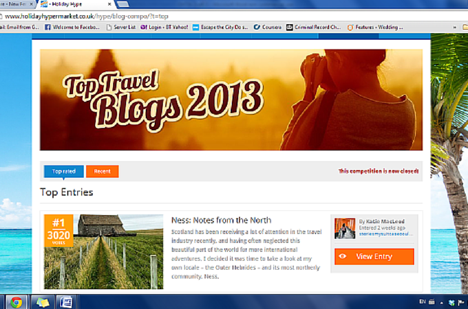 Stories My Suitcase Could Tell Wins Top Travel Blog 2013