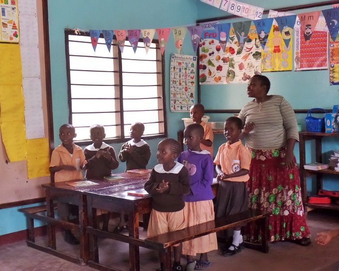 A classroom at Footprints Children's Home