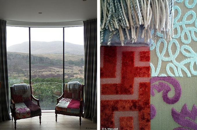 Designs and textures at the Broch at Borve Lodge
