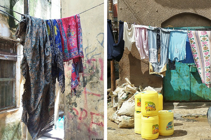 Laundry in the streets of Mombasa