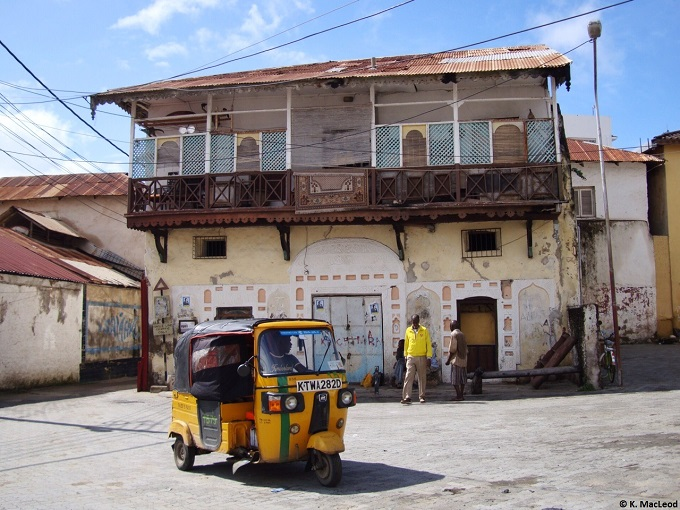 Tuk tuk in the square, Mombasa