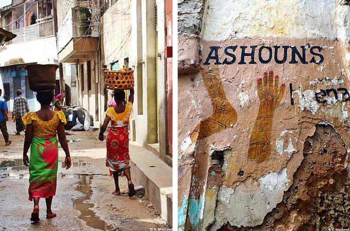Walking on the streets of Mombasa's Old City