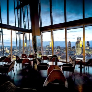 Drinking in the Sunset at Aqua Shard