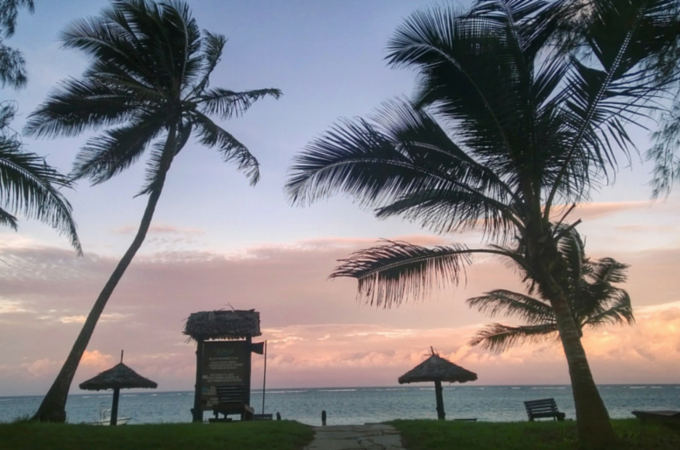 Sunset at Diani Sea Resort, Kenya