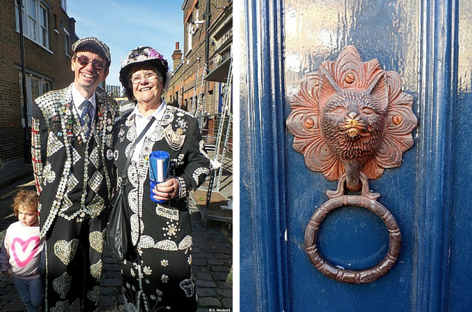 Pearly King and Queen on Columbia Road