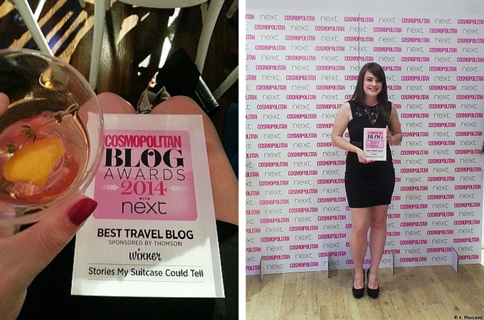 Stories My Suitcase Could Tell Wins Best Travel Blog, Cosmopolitan Blog Awards