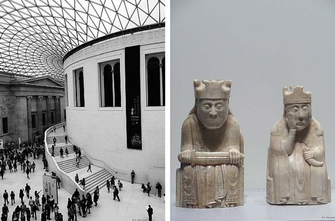 Lewis Chessmen at the British Museum, London