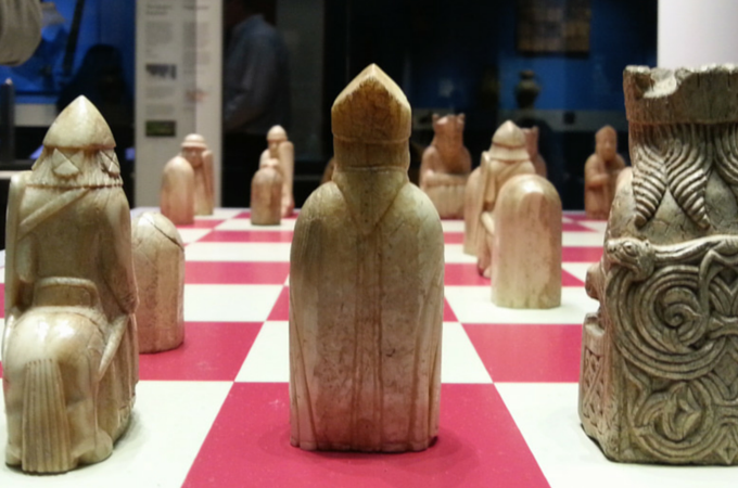 Lewis chessmen ready for battle
