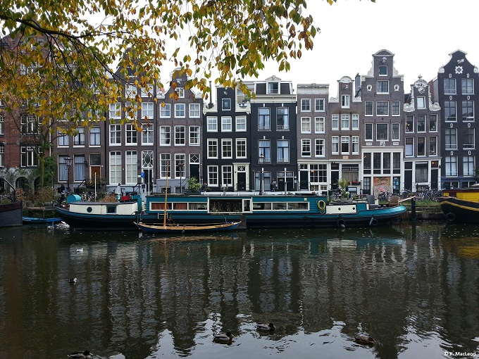 Blue Amsterdam Canal Homes