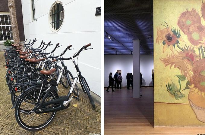 Bikes and Van Gogh Museum, Amsterdam