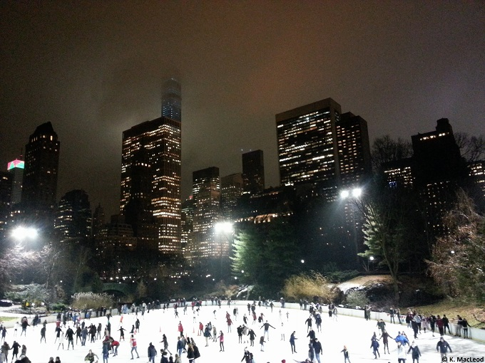 New York skyline from Central Park in winter