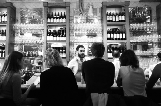 The bar at Buvette