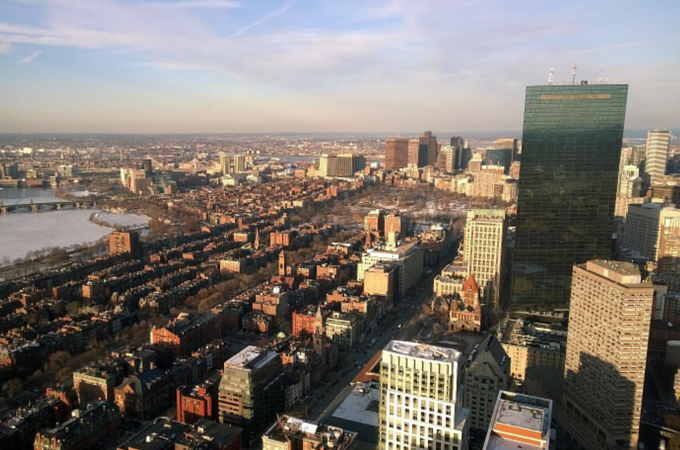 Hancock Tower and Boston Skyline