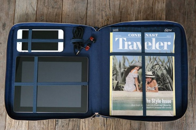 We Travel Far Navy Carrying Case