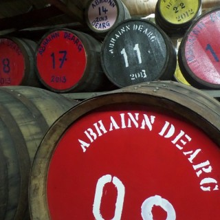 Enjoying A Dram At Abhainn Dearg Distillery