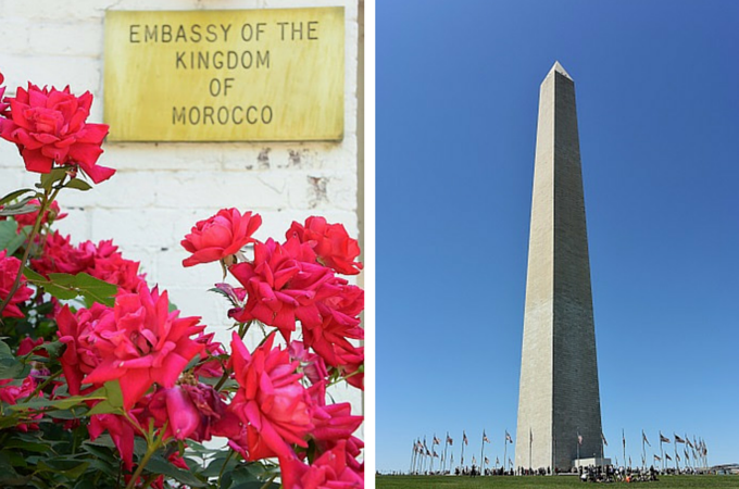 Moroccan Embassy and Washington Monument