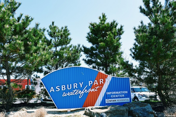 A welcome to the Asbury Park Waterfront