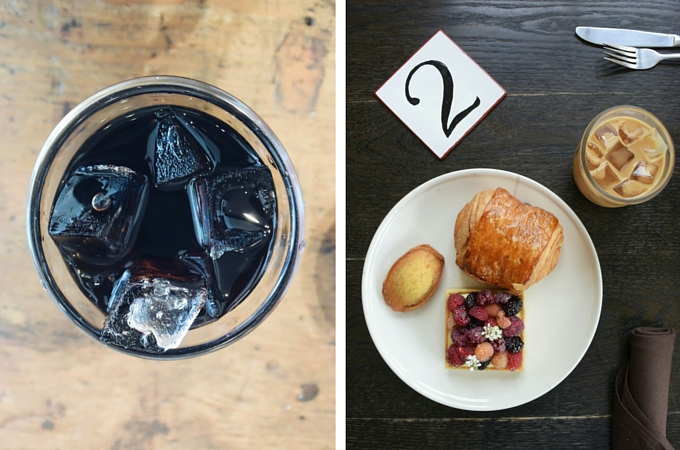 Coffee and pastries at Cellar Door Provisions