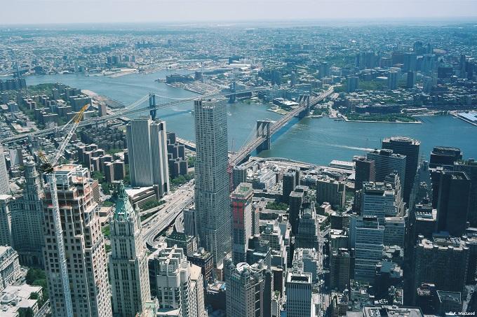 New York skyline from One WTC