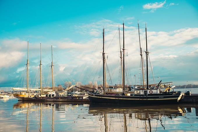 Schooners in Helsinki harbour