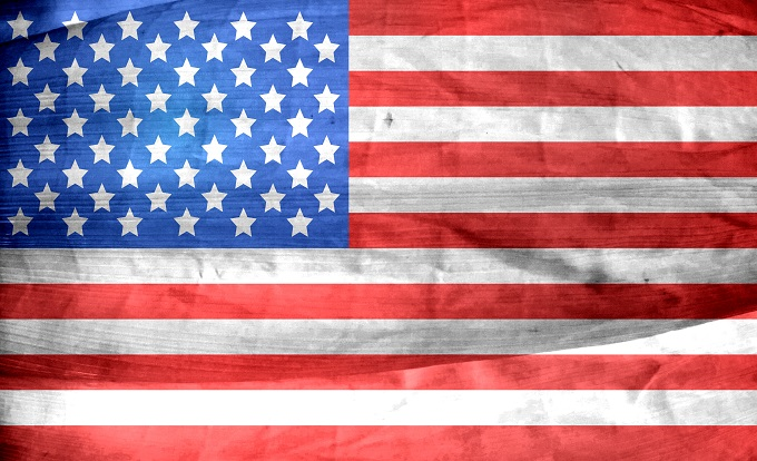 Stars and stripes: appropriate for the arrival of the Green Card!