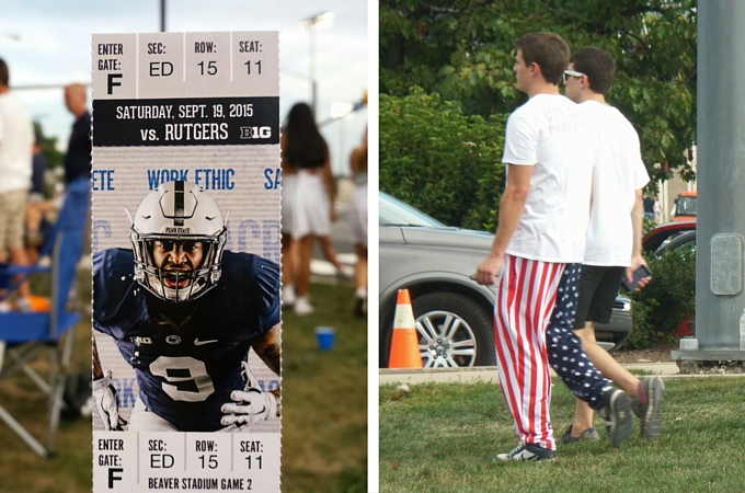 Ticket to the Penn State American football game