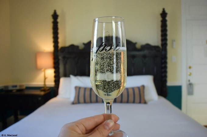 Champagne at Peter Shields Inn