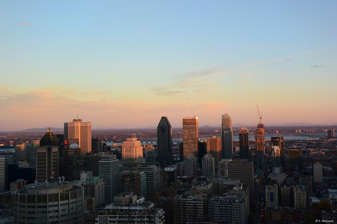 Montreal at sunset