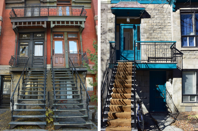 Outdoor staircases Montreal